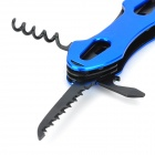 7-in-1 Multifunctional Portable Tungsten Steel Knife Scissors Tool Set - Blue + Black