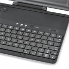 Detachable 360 Degree Rotatable Wireless Bluetooth 78-Keys Keyboard for Ipad 4 - Black
