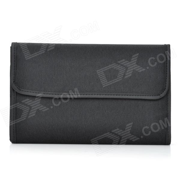 Rectangle 12-Pocket Mutispandex Bag for 82mm UV Protective Lens - Black