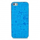 Cute Cartton Pattern Protective Plastic Back Case for iPhone 5 - Blue + Silver
