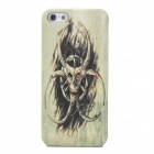 Stylish Cool Spider Skull Pattern Protective Plastic Back Case for Iphone 5 - Grayish Green