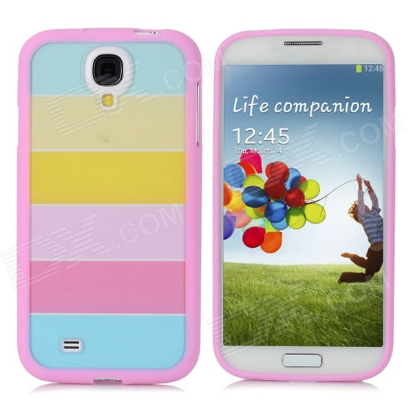 Protective PC+PVC Rainbow Back Case for Samsung Galaxy S4 / i9500 - Pink защитная пленка для мобильных телефонов 4 2 x 2 x nokia lumia 920