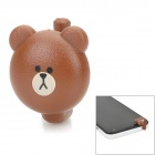 Cute Bear Style Plastic Earphone Jack Anti-dust Plug for iPhone 5 / Cellphone - Brown + Black