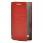 KALAIDENG Protective Flip Open Style PU Leather Case for Sony LT26ii - Brown