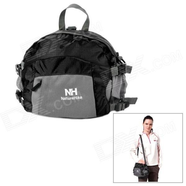 Naturehike-NH Multifunction Outdoor Nylon Storage Waist Bag / Handbag / Backpack - Black + Grey (8L) spark storage bag portable carrying case storage box for spark drone accessories can put remote control battery and other parts