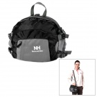 Naturehike-NH Multifunction Outdoor Nylon Storage Waist Bag / Handbag / Backpack - Black + Grey (8L)