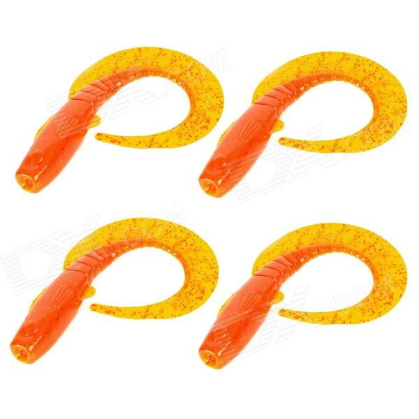 14g Lifelike Fish Soft Plastic Fishing Bite / Lure - Orange (4 PCS)