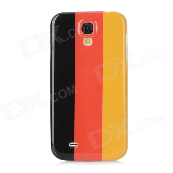 Protective Germany National Flag Pattern Case for Samsung Galaxy S4 / i9500  - Black + Red + Yellow cool basketball skin pattern silicone protective back case for samsung galaxy s4 i9500 black red