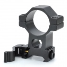 30mm Steel Adjustable Tactical Flashlight Laser Scopes Gun Mount - Black