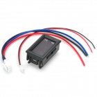 2-in-1 Digital Red + Blue LED Display Voltage Ampere Meter - Black