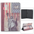 ENKAY ENK-332 Lady Liberty Pattern PU Leather Case w/ Holder for Ipad MINI - Multicolored