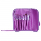 7-in-1 Professional Cosmetic Makeup Brushes Kits - Purple