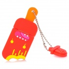 Cute Popsicle Style Rubber USB2.0 Flash Driver - Red + Yellow + Orange (4GB)