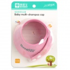 Adjustable Snap-fastener Polystyrene Foam Shampoo Washing Cap for Baby / Kids - Rosy + White