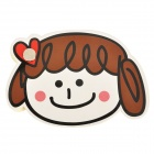 3293 Cute Cartoon Girl Style Paper Memo Pad / Note Pad - Brown + Black + Cream (About 69 Sheets)