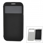 Baseus LISAI9500-SL01 Stylish PC Back Case w/ PU Leather Cover for Samsung Galaxy S4 / i9508 - Black