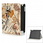 ENKAY ENK-3130 Stylish Cartoon Pattern PU Leather Case w/ Holder for Ipad 4 / 3 - Multicolored