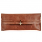 3287 Retro Exquisite Flip-open Pencil Bag / Case - Reddish Brown