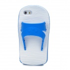 Funny Slipper Style Protective Silicone Back Case for Iphone 5 - Blue + White