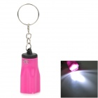 PZCD PZ-10 Five Petals Plum Blossom Shaped White LED Keychain Flashlight - Deep Pink (3 x AG3)