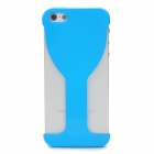 Wine Glass Style Protective PVC Back Case for Iphone 5 - Blue