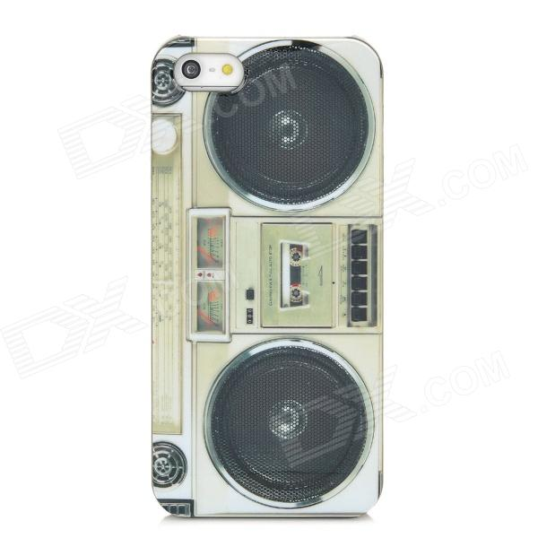 Cassette Player Pattern Protective Plastic Case for Iphone 5 -Sage Green