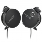 MRH-8006Q Sports USB Rechargeable MP3 Player Stereo Headset w/ FM / TF Slot - Black