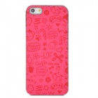 Cartoon Protective Plastic Case for iPhone 5 - Pink + Silver