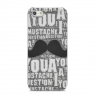 Protective Mustache Pattern Back Case for Iphone 5 - Grey + Black