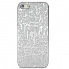 Shimmering Powder Trunk Texture Pattern Protective Plastic Case for Iphone 5 - Silver