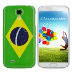 Protective Brazil National Flag Back Case for Samsung Galaxy S4 / i9500 - Green + Yellow + Deep Blue