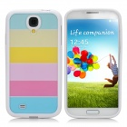 Protective PC + PVC Rainbow Back Case for Samsung Galaxy S4 / i9500 - White