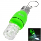 PZCD PZ-12 Spiral Bulb Style LED White Flashlight Keychain - Green (3 x AG3)