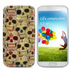 Protective Crowded Skull Pattern Plastic Back Case for Samsung Galaxy S4 / i9500 - Multicolor