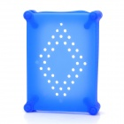 "Anti-Shock Silicone Protective Case with Ventilation Hole for 3.5"" HDD Hard Disk Drives - Blue"