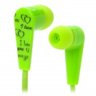 Sibyl M-165 In-Ear Earphone - Light Green + Black (3.5mm Plug)
