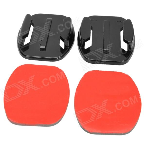 M-F Universal Flat Adhesive Mount w/ 3M Sticker for Gopro Hero 4/ 3+/3/2/1/SJ4000 (2 PCS) pannovo curved pc mount w 3m adhesive sticker set for gopro hero 4 2 3 3 sj4000 2 pcs