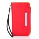 KALAIDENG Protective PU Leather Case for Sony LT26i / LT26ii - Red