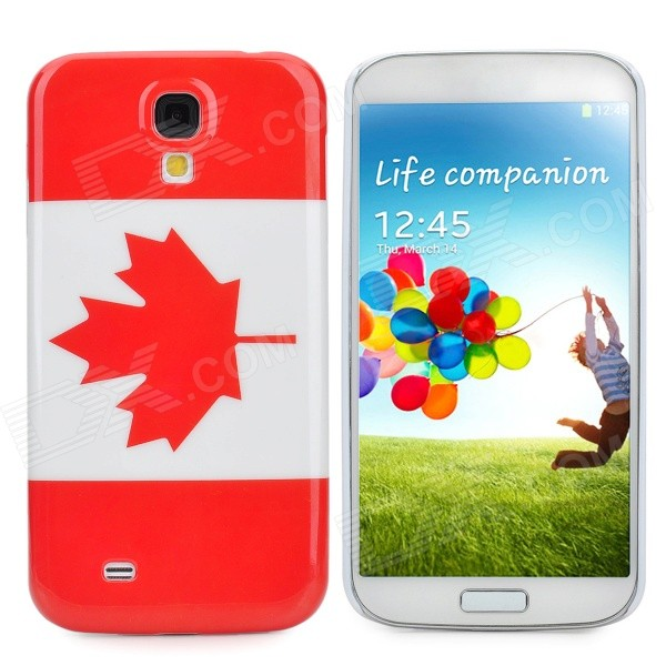 Protective Canada National Flag Pattern Case for Samsung Galaxy S4 / i9500 - Red + White protective usa flag pattern back case w crystal for samsung galaxy s4 i9500 multicolored