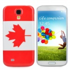 Protective Canada National Flag Pattern Case for Samsung Galaxy S4 / i9500 - Red + White
