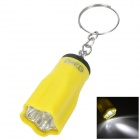 PZCD PZ-10 Pentagon Flower Style LED White Flashlight Keychain - Yellow (3 x AG3)
