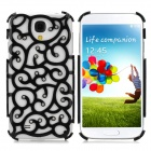 Protective Palace Flower Pattern Hollow Plastic Case for Samsung Galaxy S4 / i9500 - Black