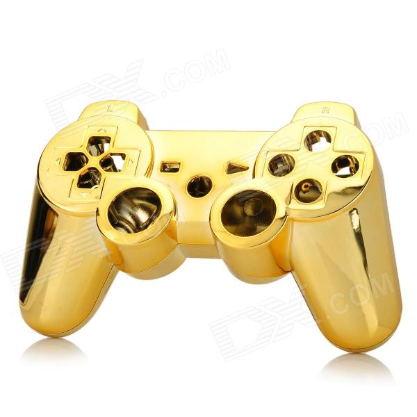 Replacement ABS Electroplating Housing Case for Sony PS3 Game Bluetooth Controllers - Golden brand new 310 7522 725 10092 replacement projector lamp with housing for dell 1200mp 1201mp