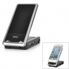 Mobile Phone Stand Holder + CF / SD / MMC / MS / XD / TF / M2 Card Reader - Black + Silver