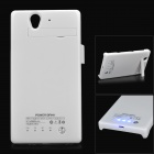 2800mAh Rechargeable Power Battery Back Case for Sony L36H - White