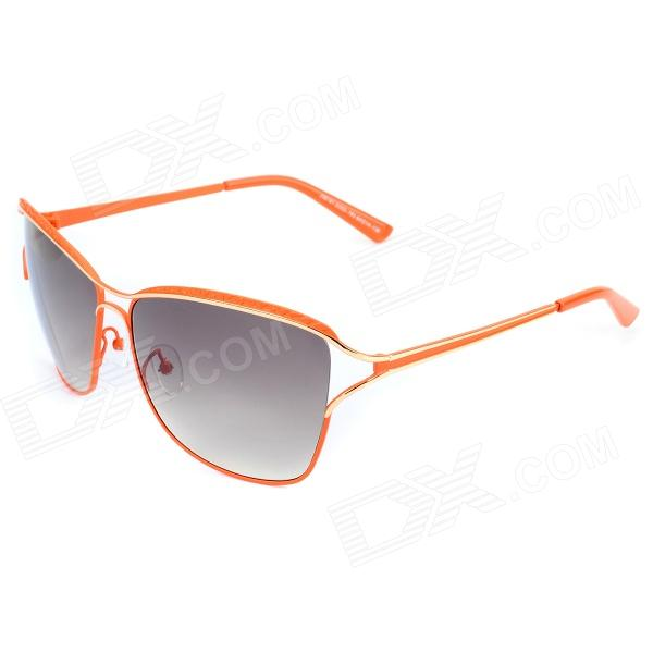 LANGTEMENG Fashion UV400 Protection Monel Metal Frame Resin Lens Sunglasses - Orange carshiro 9150 uv400 protection resin lens polarized night vision driving glasses