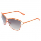 LANGTEMENG Fashion UV400 Protection Monel Metal Frame Resin Lens Sunglasses - Orange