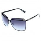 LANGTEMENG J58124 D220-18 Fashionable Women's UV400 Protection Sunglasses - Black