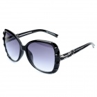 LANGTEMENG C56321 10-210 Fashion Elegant Women's UV400 Protection Sunglasses - Black