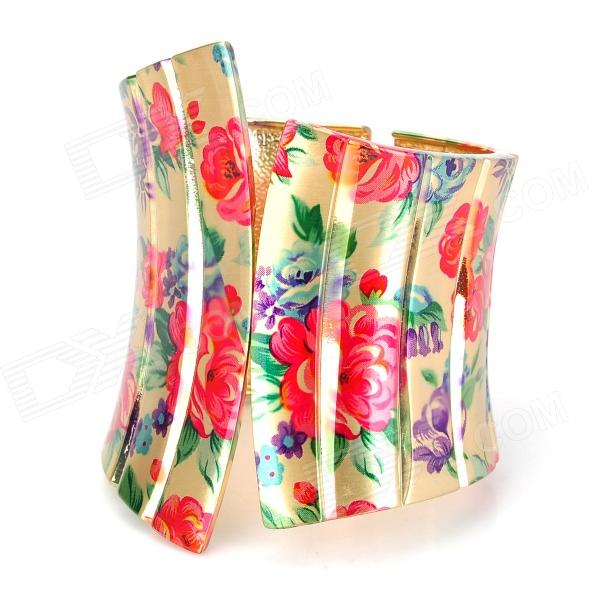 ZX-0528 Rose Printing Pattern Widen X Type Bracelet 100% new for board controller xqb60 0528 xqb55 0528 0034000808e motherboard